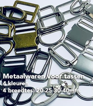 Metaalwaren voor tassen
